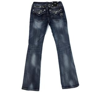 Miss Me boot cut jeans with sequins/rhinestones